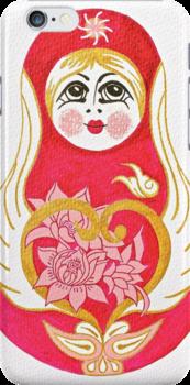 Angelic Babushka - iPhone Skin by Vikki-Rae Burns