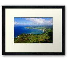Aerial View of Hanalei Bay Framed Print