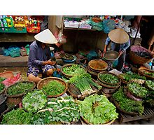 Green Market Vegetables Photographic Print