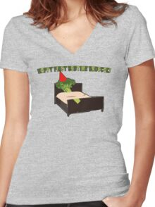 Happy First Bedtime Broccoli Women's Fitted V-Neck T-Shirt