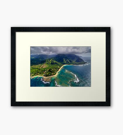 Tunnels Beach HDR Framed Print