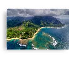 Tunnels Beach HDR Canvas Print