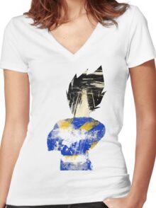 Prince Vegeta Women's Fitted V-Neck T-Shirt