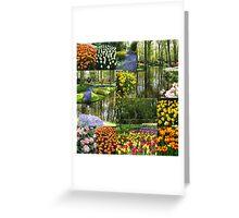 Keukenhof Gardens Collage Greeting Card