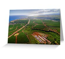Aerial View of Southwest Kauai Greeting Card