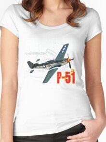 P-51 MUSTANG Women's Fitted Scoop T-Shirt
