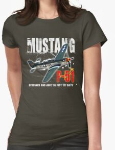 P-51 MUSTANG Womens Fitted T-Shirt