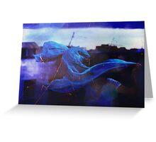 blue spirit. Greeting Card