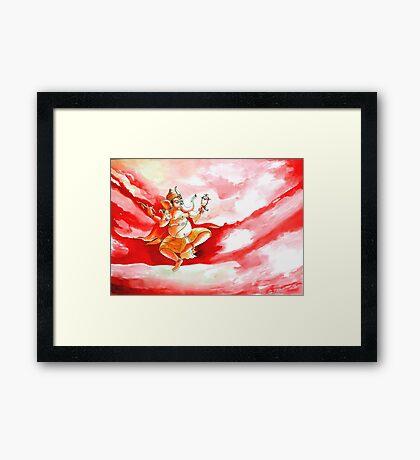 Ganesha Dancing ....... Framed Print