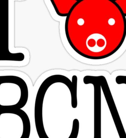 I heart Bacon Tee Sticker
