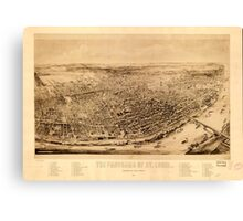 Panoramic Maps The panorama of St Louis Canvas Print