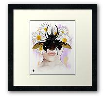 Rhino Beetle Framed Print