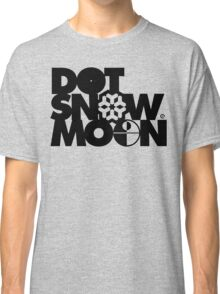 Dot Snow Moon (Black Text) Classic T-Shirt