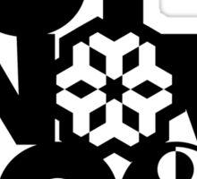 Dot Snow Moon (Black Text) Sticker