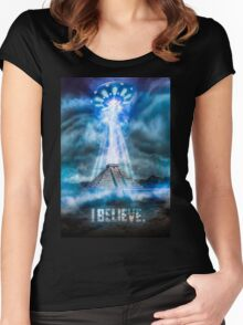 I Believe. Women's Fitted Scoop T-Shirt