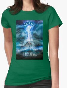 I Believe. Womens Fitted T-Shirt