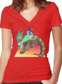 Breathe.. Women's Fitted V-Neck T-Shirt