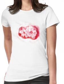 Red Flower     TEESHIRT/BABY GROW/STICKER Womens Fitted T-Shirt