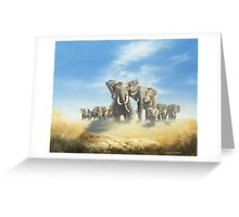 Serengeti Family Greeting Card