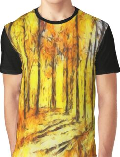 Abstract Fall Graphic T-Shirt