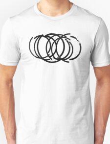 Cool Grunge Crazy Circles T-Shirt