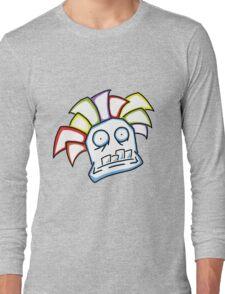 Retro Tiki Mask Long Sleeve T-Shirt