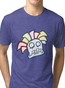 Retro Tiki Mask Tri-blend T-Shirt