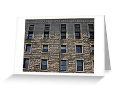 Granite Facade  Greeting Card