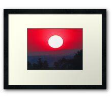 Farewell Blazing Sun, Illumine Our 'Morrow Framed Print
