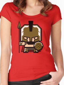 Mekkachibi Leonidas Women's Fitted Scoop T-Shirt