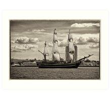 The Bounty Sails Again Art Print