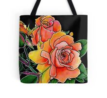 Summer Scent ~ Apricot Roses Tote Bag