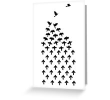 Crows and Arrows Greeting Card
