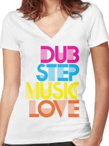 Dubstep Music Love Women's Fitted V-Neck T-Shirt