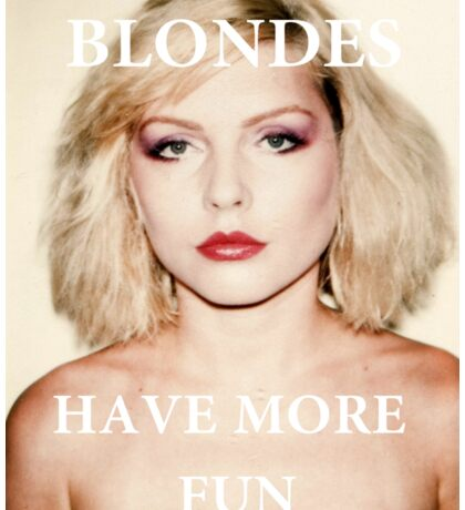 Blondes have more fun. Sticker