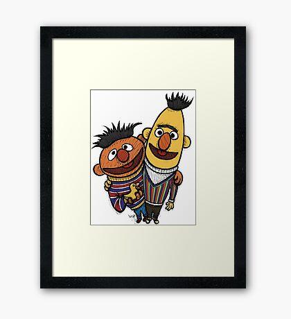 Bert And Ernie Framed Print