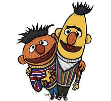 Bert And Ernie Photographic Print