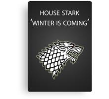 Game of Thrones: Stark Canvas Print