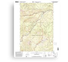 USGS Topo Map Washington State WA Old Scab Mountain 242932 2000 24000 Canvas Print