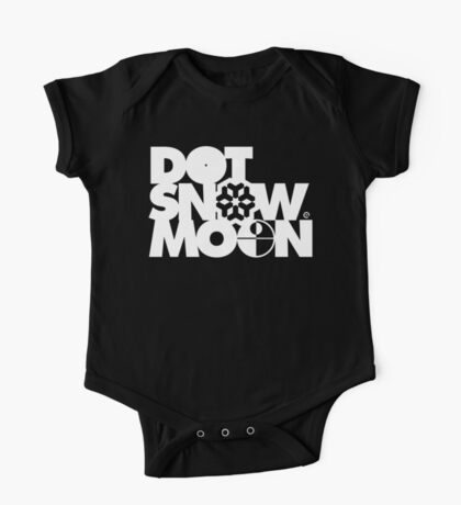Dot Snow Moon (White Text) One Piece - Short Sleeve