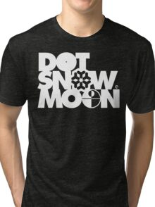 Dot Snow Moon (White Text) Tri-blend T-Shirt