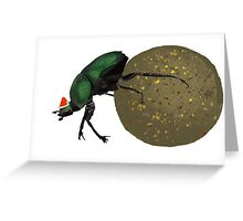 Christmas Dung Beetle Greeting Card