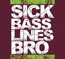 Sick Basslines Bro (neon green) Womens Fitted T-Shirt