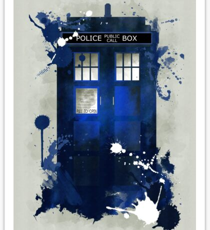 Doctor Who: Tardis Giclee Art Print Sticker