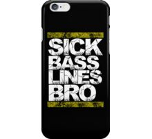 Sick Basslines Bro (gold) iPhone Case/Skin