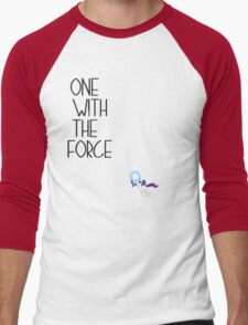 One with the force [rarity] [black text] Men's Baseball ¾ T-Shirt