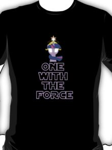 One with the force [twilight sparkle] [purple text] T-Shirt