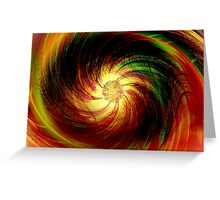 Colorful Flower Fantasy Art Design Greeting Card