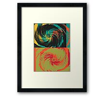Colorful Paint Vintage Flower Art Design Framed Print