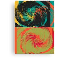 Colorful Paint Vintage Flower Art Design Canvas Print